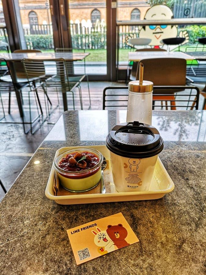 上海新天地线友流行文化咖啡馆 免版税库存照片