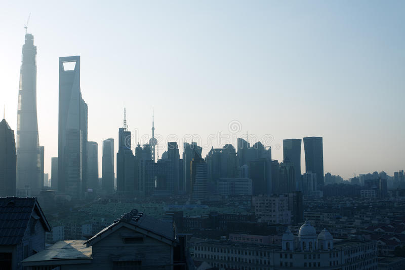 上海浦东大厦 库存照片