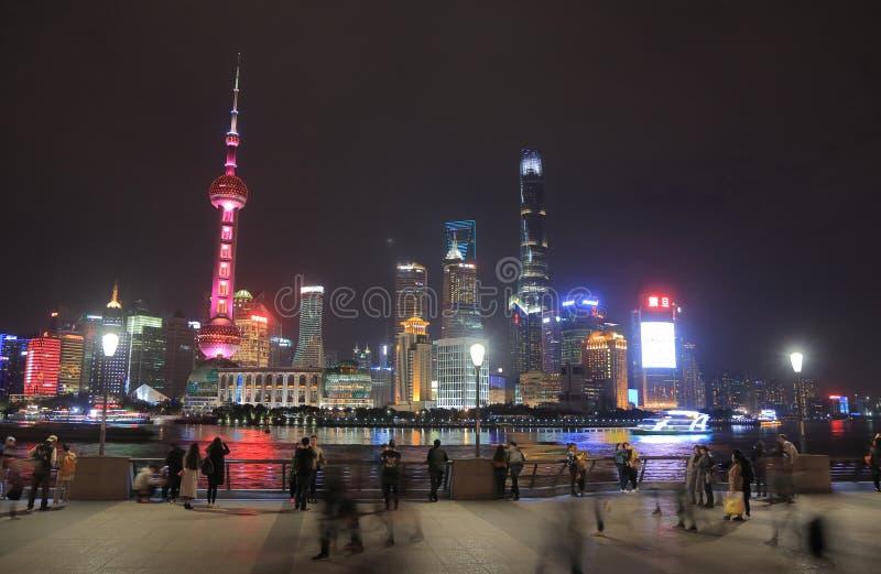 上海浦东摩天大楼都市风景中国 免版税库存照片