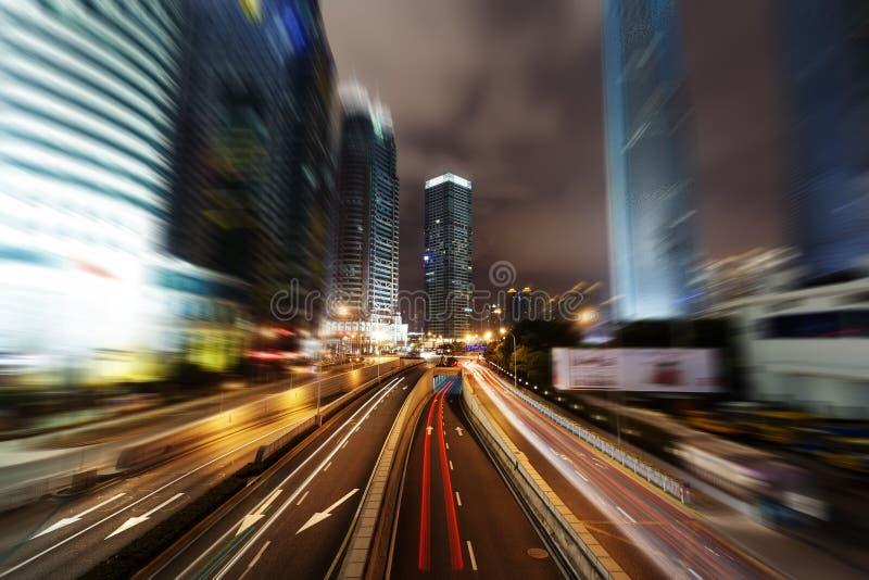 上海浦东,城市的夜 免版税库存图片