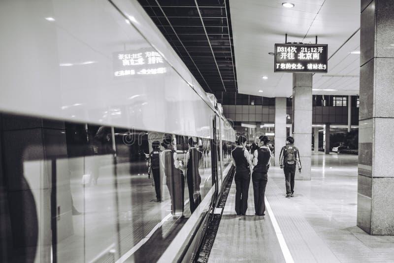 从上海的高速火车向北京 免版税库存照片