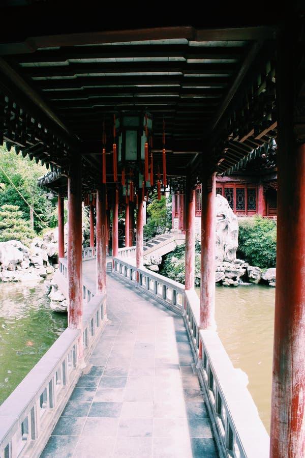上海神圣的庭院 免版税库存图片