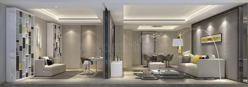 上海资深公寓客厅的活动空间 免版税库存图片