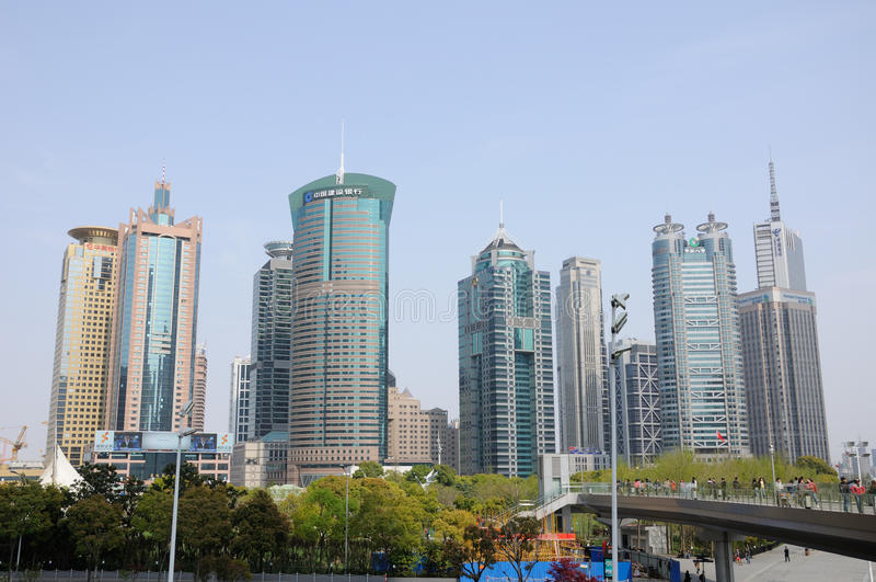 上海陆家嘴地平线 免版税库存照片