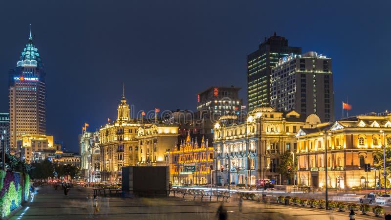 上海障壁在夜 免版税库存图片