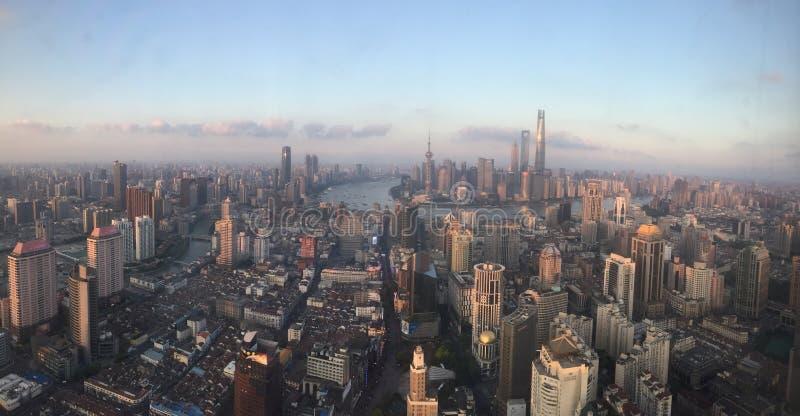 上海障壁视图 免版税图库摄影