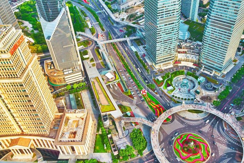 上海,中国, 24日2015年:美丽的摩天大楼 免版税库存图片