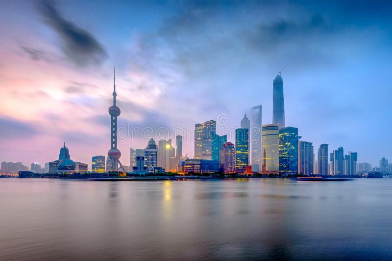 上海,从障壁的中国 免版税图库摄影