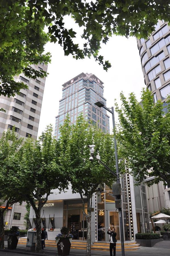 上海,第2可以:Xintiandi摩天大楼从上海的邻里区 免版税库存照片