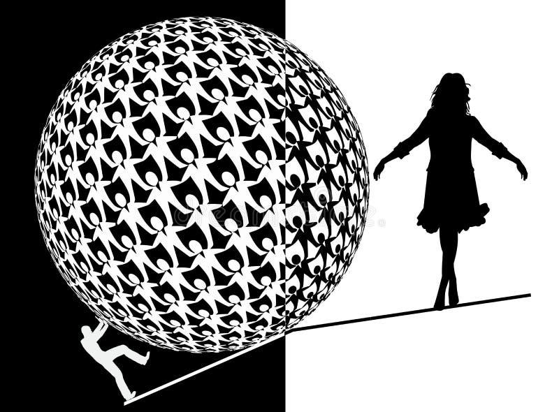 上涨女性的高级主管 库存例证