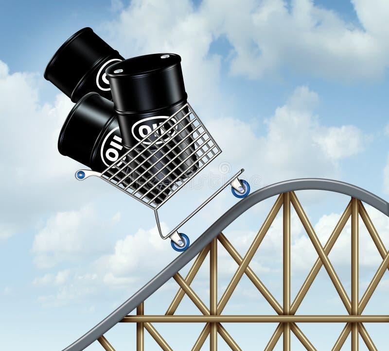 上涨的油价 皇族释放例证