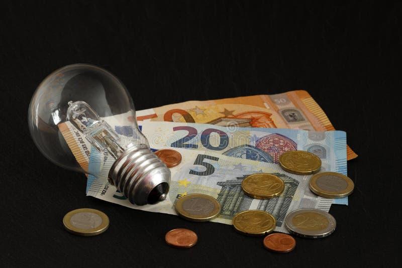 上涨的能源费用 库存照片