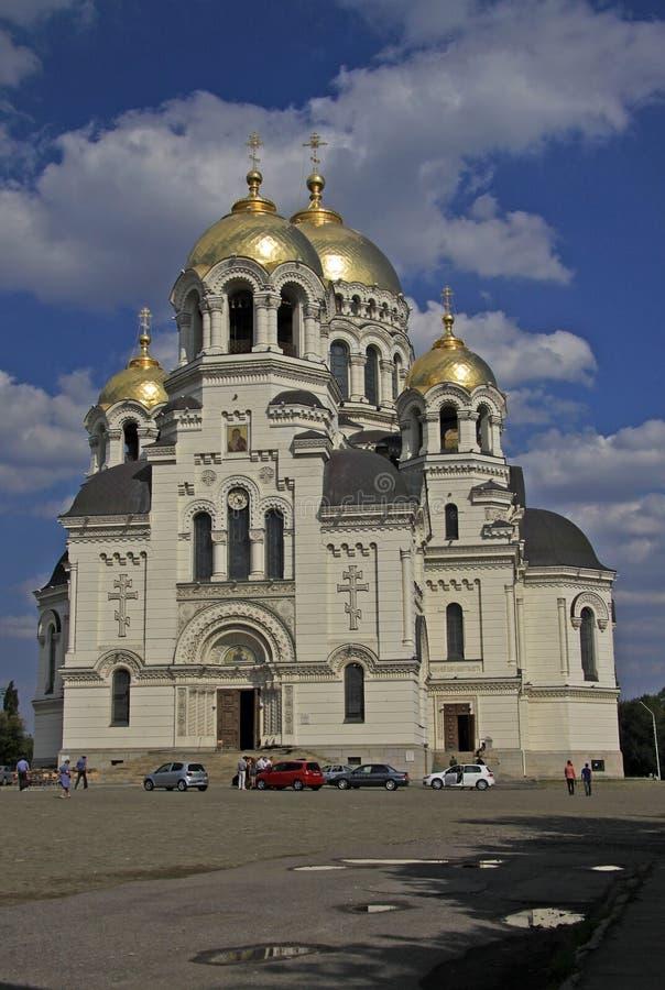 上生大教堂在新切尔卡斯特,罗斯托夫州,俄罗斯 库存照片