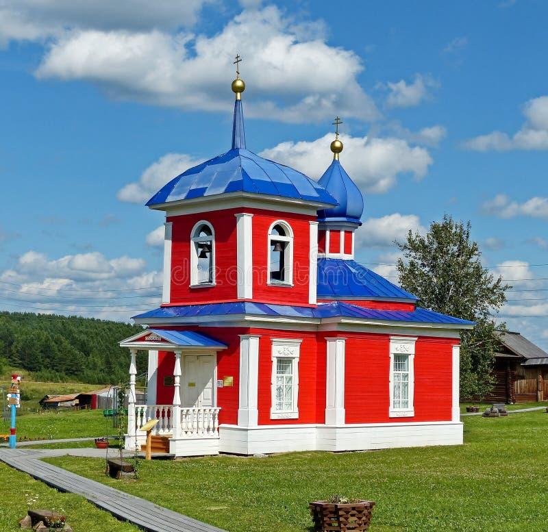 上生教堂在XIX世纪被修建了 在古典主义的修造的可看见的元素的建筑学 免版税库存图片