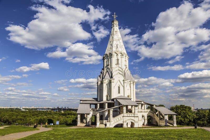 上生的教会在Kolomenskoye,莫斯科, 免版税库存图片