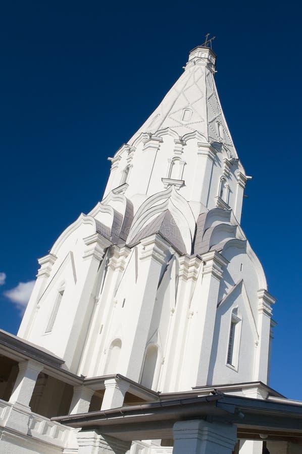上生的教会在Kolomenskoye,莫斯科 免版税库存图片