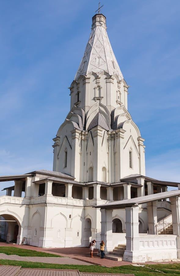 上生的教会 博物馆储备Kolomenskoye 莫斯科 库存照片