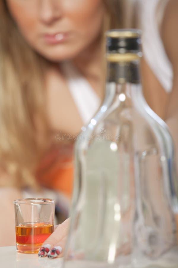 上瘾的酒精 库存照片