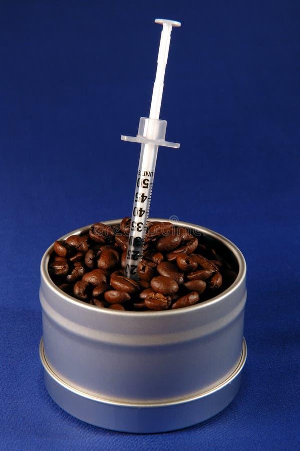 上瘾者咖啡 库存图片