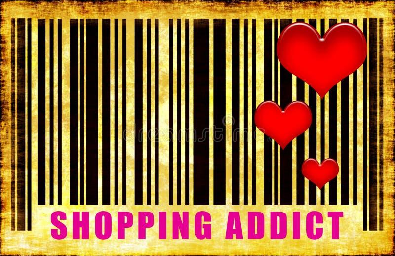 上瘾者购物 向量例证