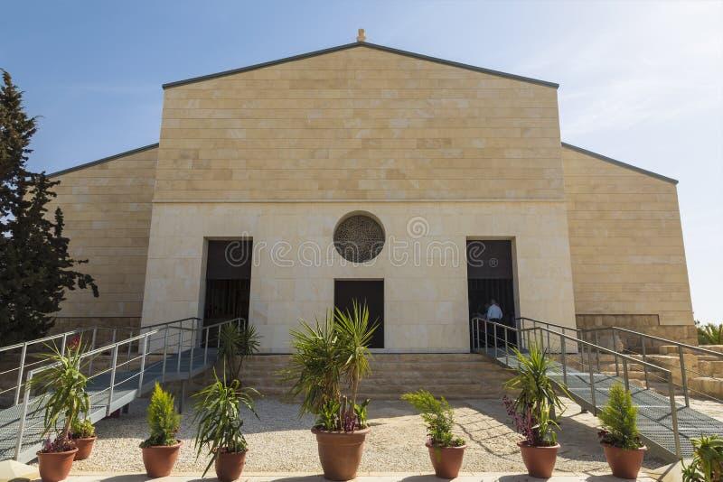 登上的Nebo方济会教会,先知摩西的涉嫌的死亡的地方和上帝显示他Promis的地方 库存照片