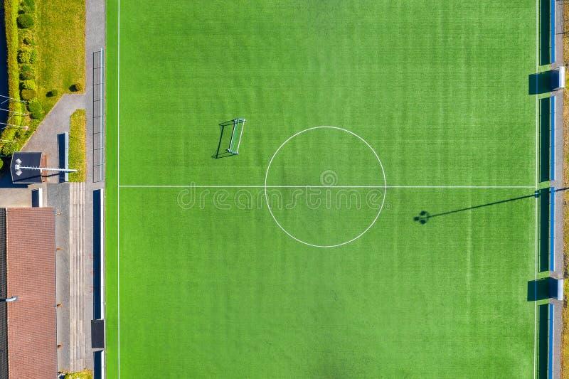 上空足球场 免版税图库摄影