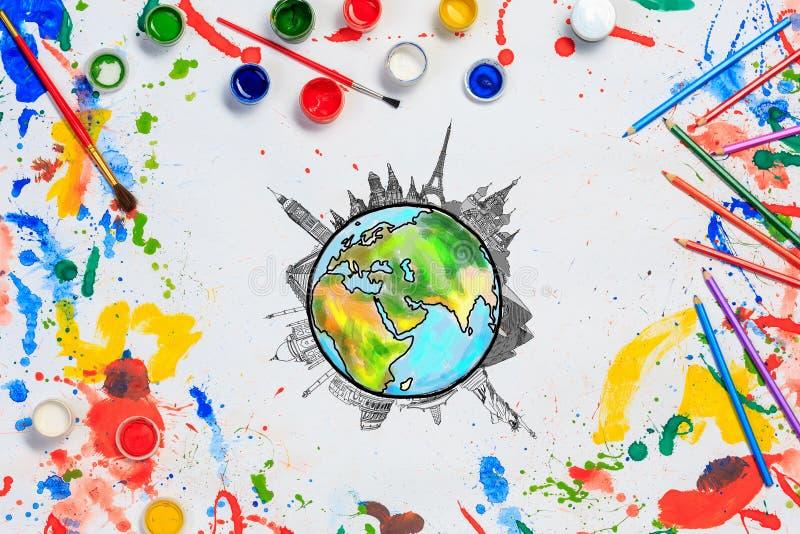 上色世界 免版税库存图片