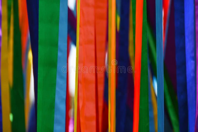 上色丝带,概念LGBT,自由,欧洲,同性恋者,游行,背景,拷贝空间,旗子 免版税库存图片