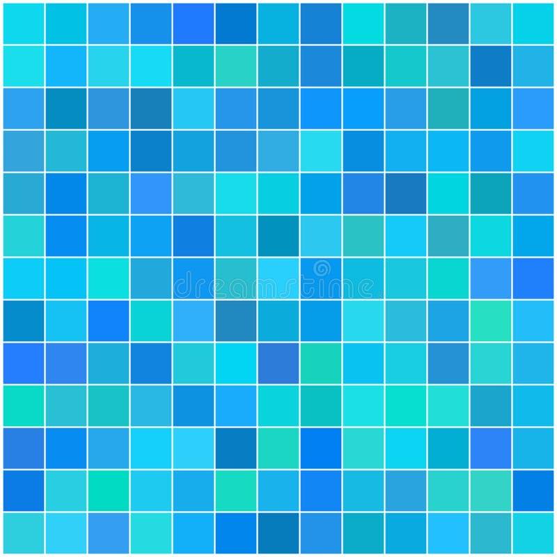 上色五颜六色的多无缝的方形瓦片 库存例证