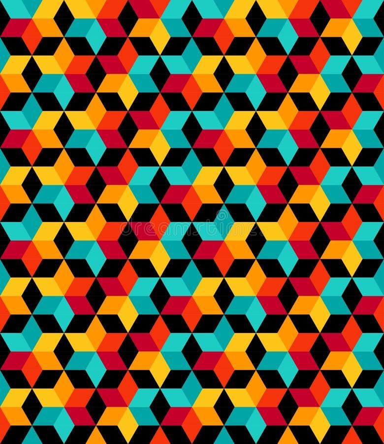 上色传染媒介无缝的样式 现代时髦的纹理 向量例证