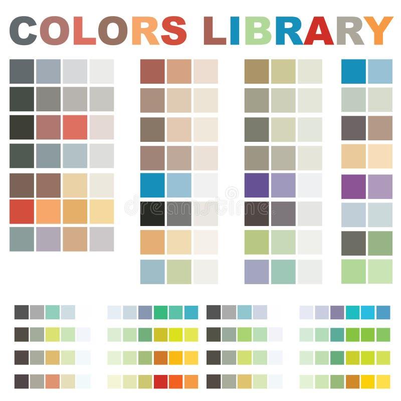 上色图书馆向量 库存例证