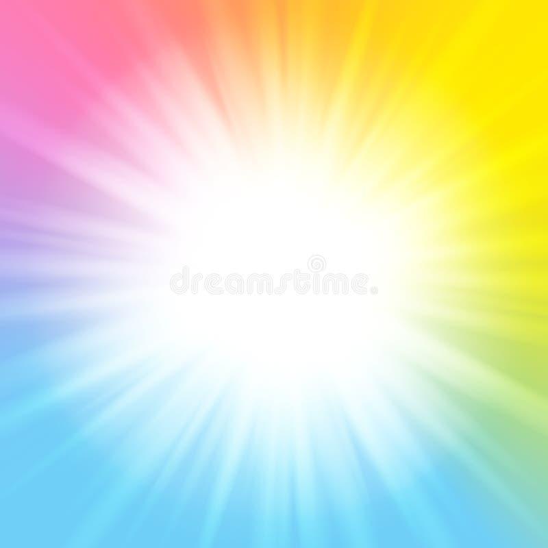 上色彩虹晴朗的背景 皇族释放例证