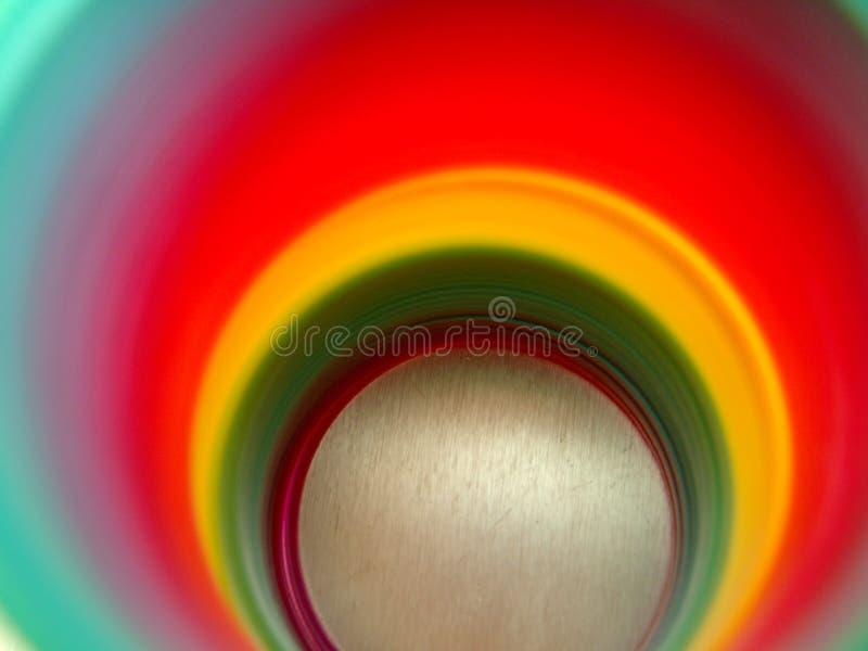 上色彩虹来回 免版税库存照片