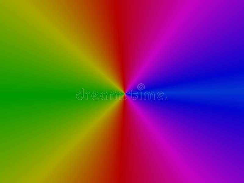 上色彩虹 库存例证