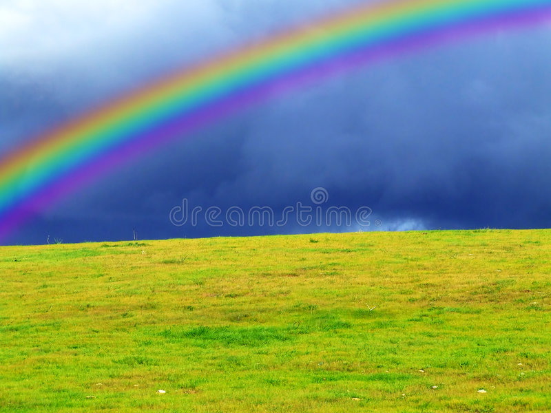 上色彩虹 库存照片