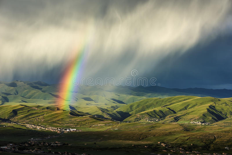 上色彩虹 图库摄影