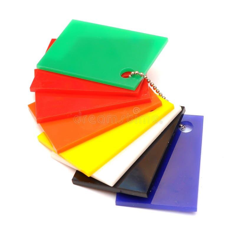 上色抽样人员光滑的塑料 免版税库存图片