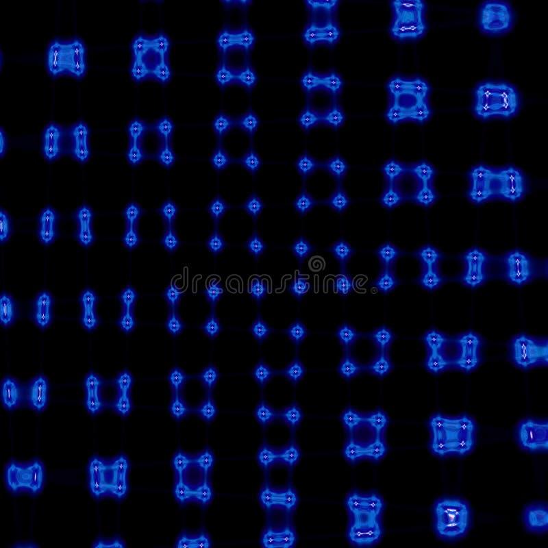 上色抽象几何样式背景、五颜六色的抽象网格图表与线和光线影响 免版税库存照片