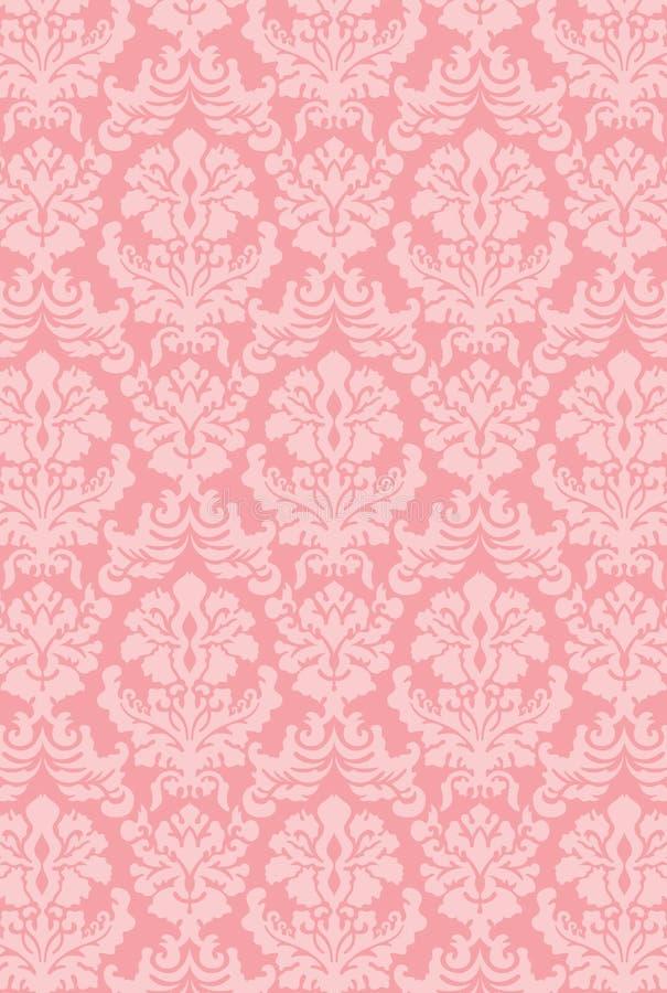 上色新的维多利亚女王时代的墙纸 免版税库存图片
