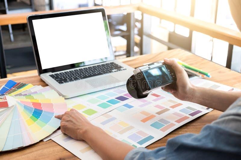 上色样品,颜色图表,样片样品,图表设计师bei 免版税库存照片