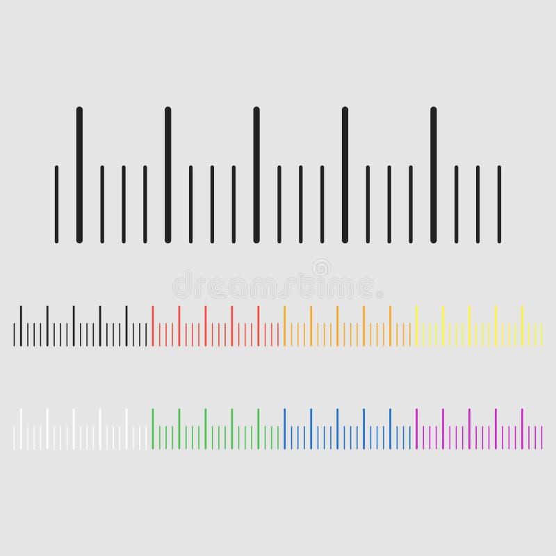 上色梯度公尺 向量例证