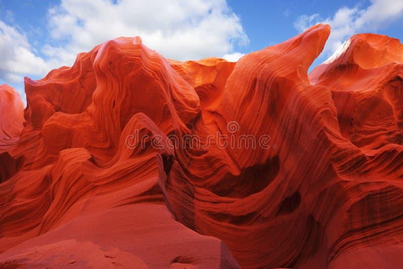 上色橙红 免版税库存图片