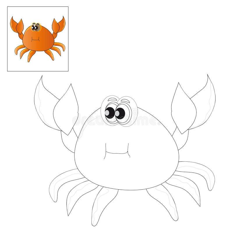 上色的图片-螃蟹 向量例证