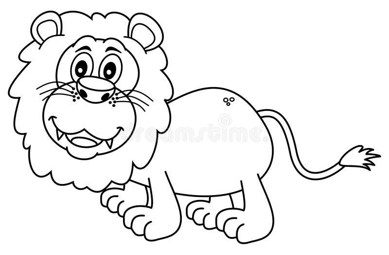 上色的狮子 皇族释放例证