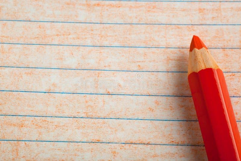 上色着色桔子铅笔 库存图片