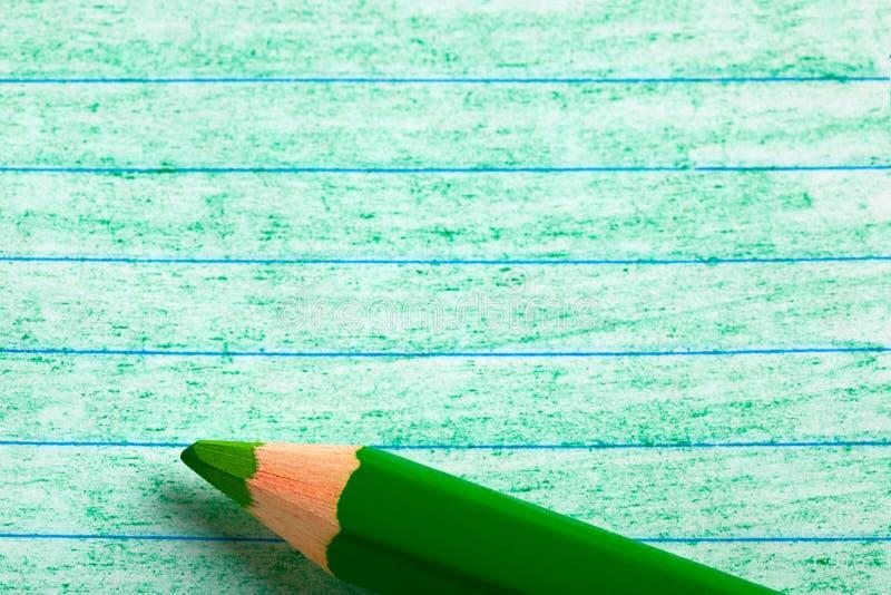上色着色绿色铅笔 免版税图库摄影