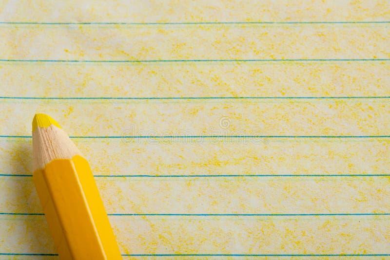 上色着色铅笔黄色 图库摄影