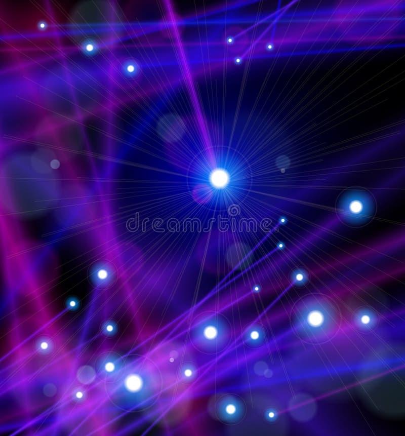 上色纤维光魔术光学 向量例证