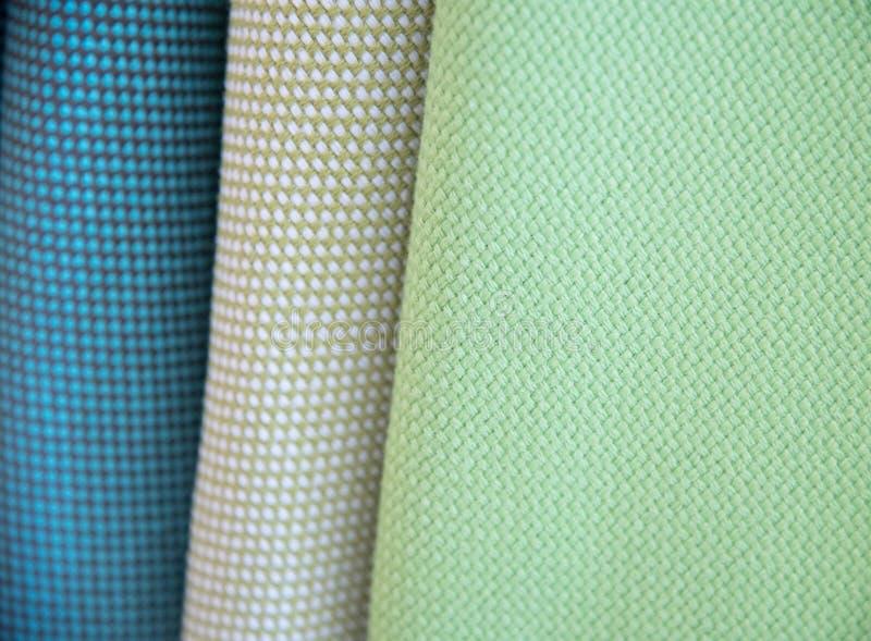 上色织品多范例纹理 库存照片