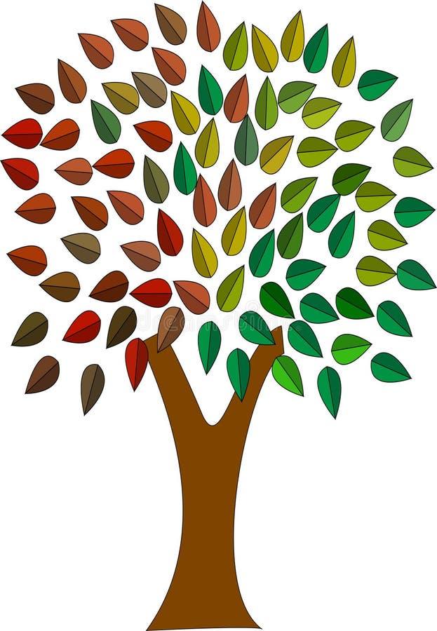 上色结构树 皇族释放例证